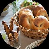 レッスンで作成したパンの写真