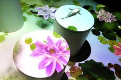 互動蓮花魚池
