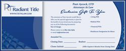 Gift Certificate Design