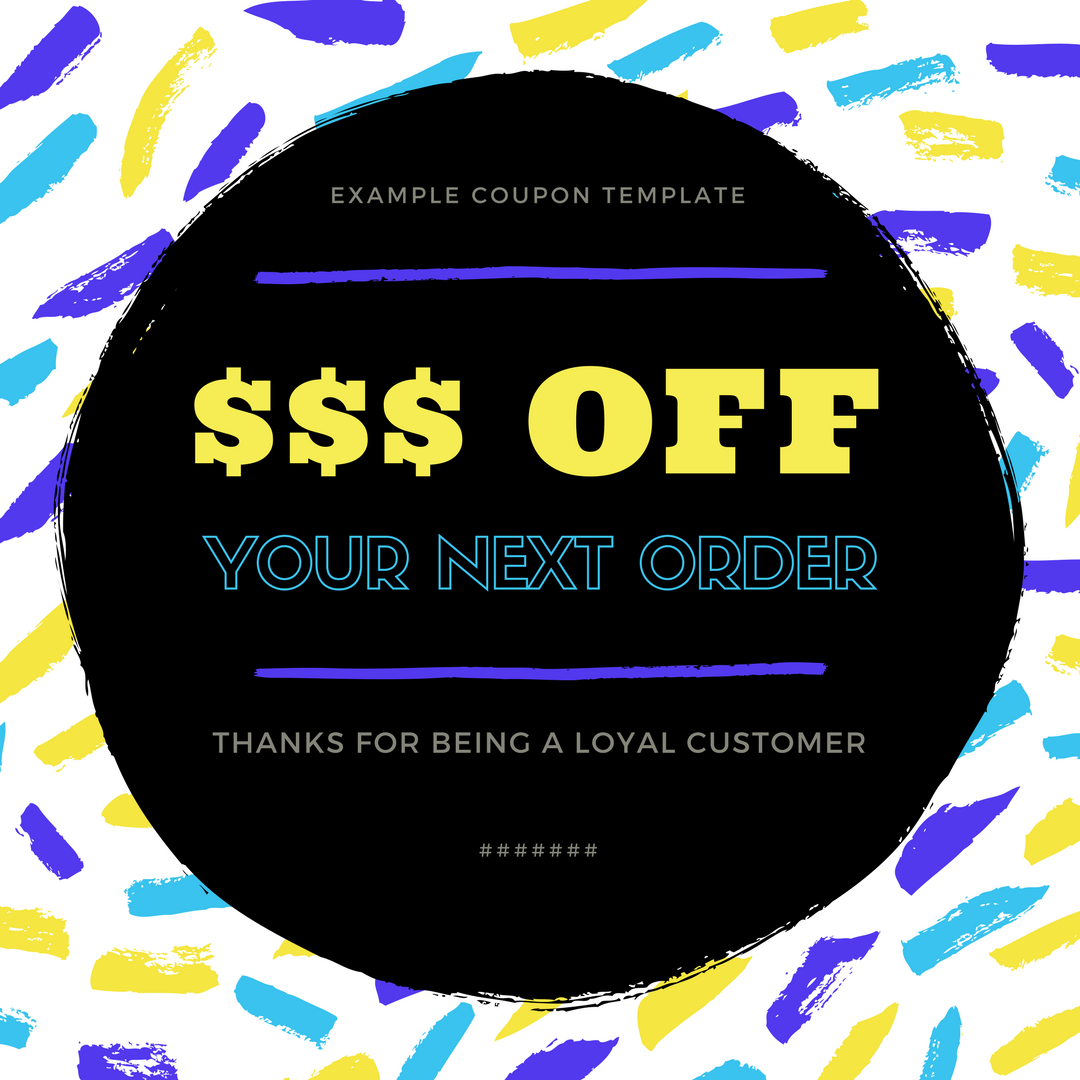 Coupon Template Design