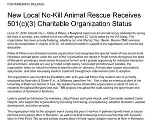 Kitties & Pitties Receives 501(c)(3) Charitable Organization Status