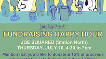 Happy Hour Fundraiser at Joe Squared in Station North on July 10