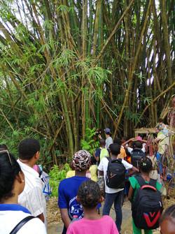 Visite et explications avec le guide du Lemuria Land