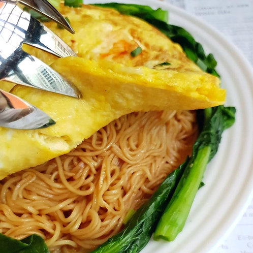 Huang Pu Noodles with Prawn Omelette (黄埔虾球生面)