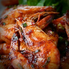 Wok-seared King Prawns with Chinese BBQ