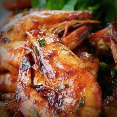 Wok-Seared King Prawns with Chinese BBQ Sauce (干煎虾碌)