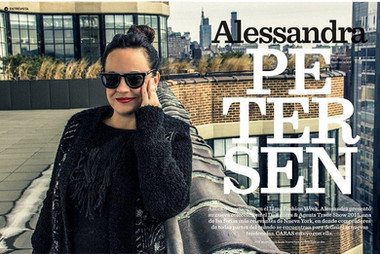 ALESSANDRA PETERSEN interview for cosas Mag