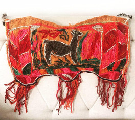 Amazing embroidered piece  from the Peruvian Andes, Arequipa
