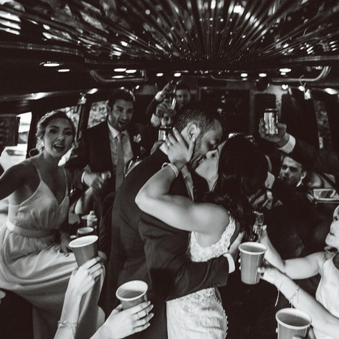 KISS ON THE LIMO
