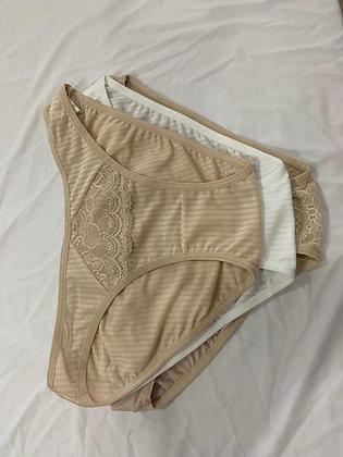 5284 Tripack Basico de Bikini Con Encaje