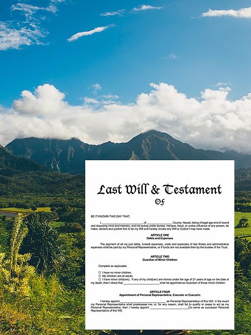 Last Will & Testament Plan