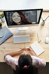top-view-photo-of-girl-watching-through-
