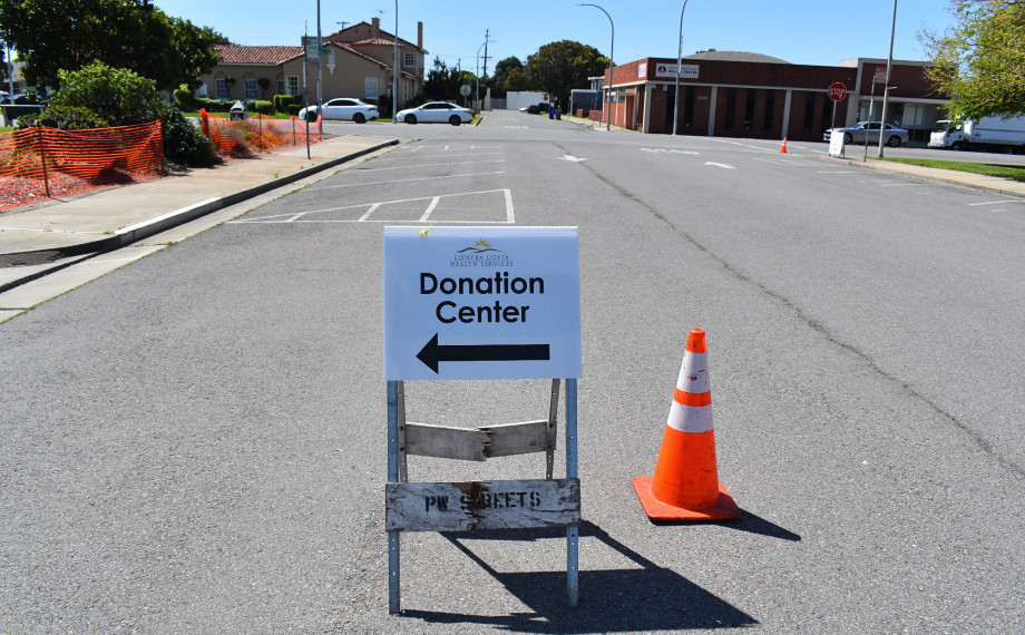 Personal protective equipment donation center