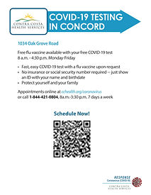 Get Tested in Concord flyer