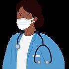 Healthcare worker illustration