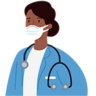 Healthcare worker illustration