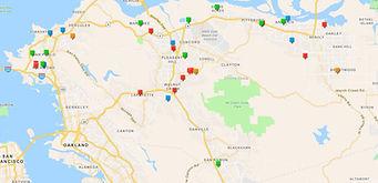 Screenshot of testing sites