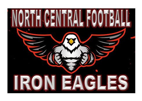 North Central Football Iron Eagle logo j