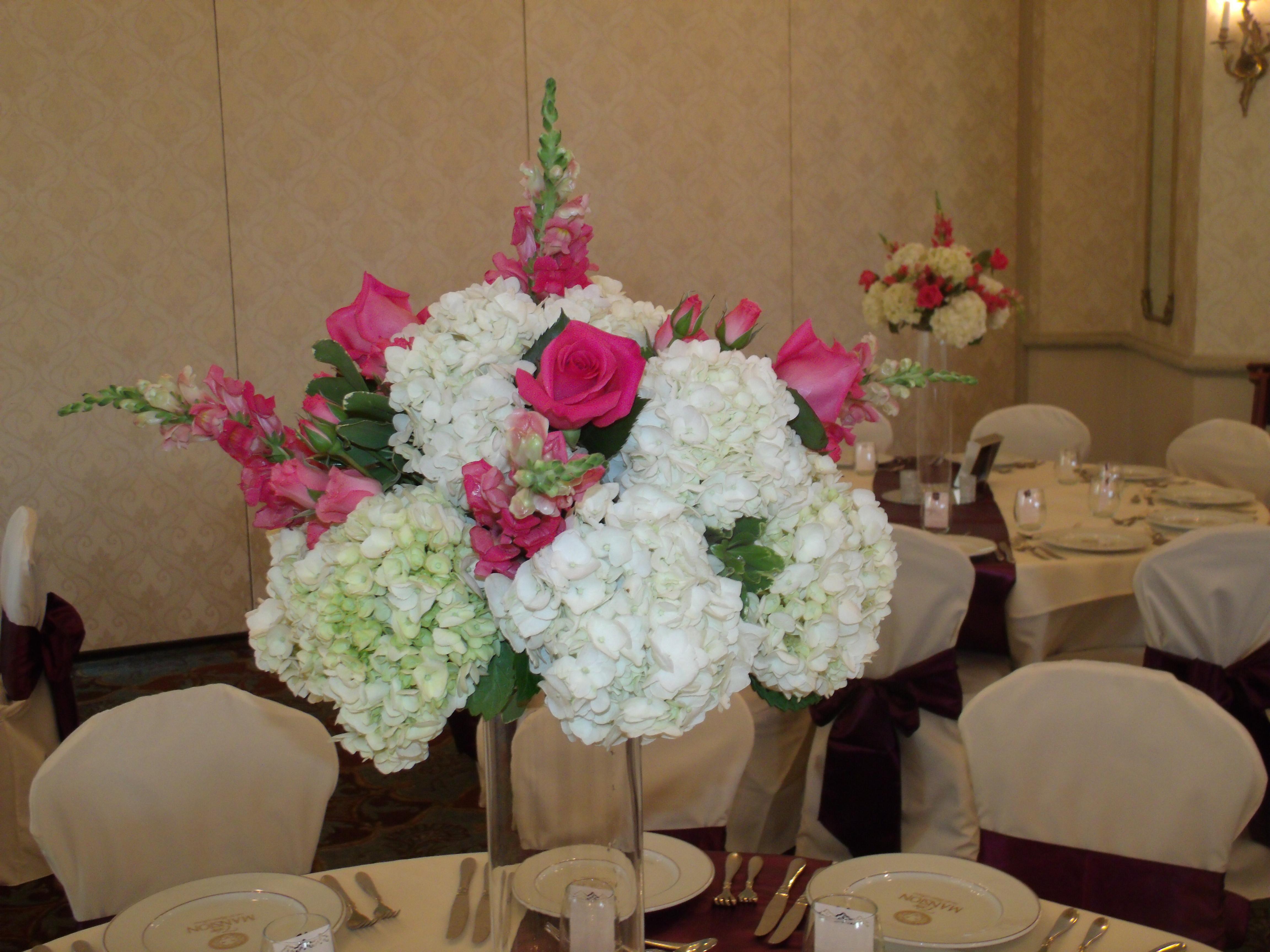 Wedding centerpiece tall