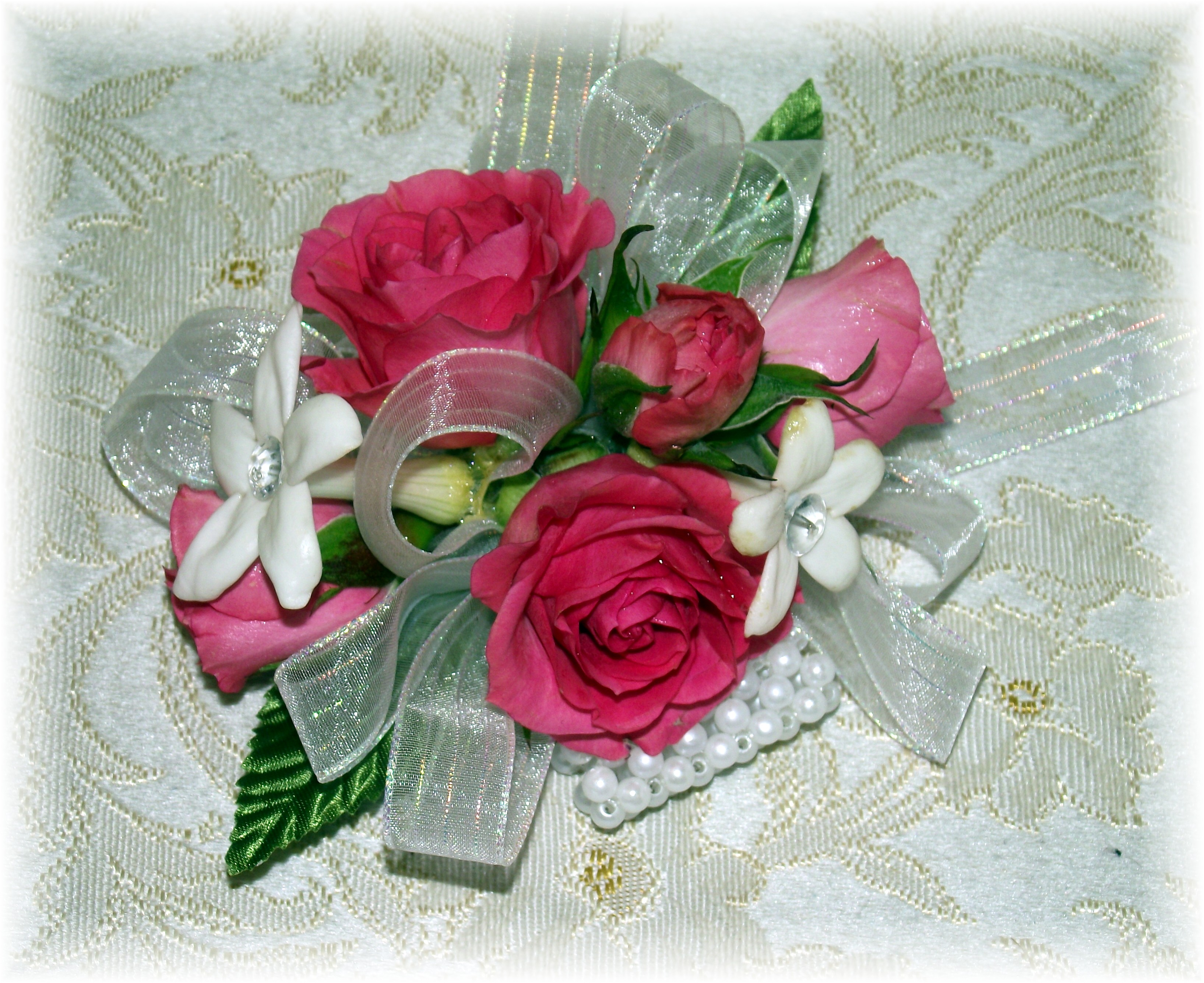 Rose & Stephanotis Wristlet