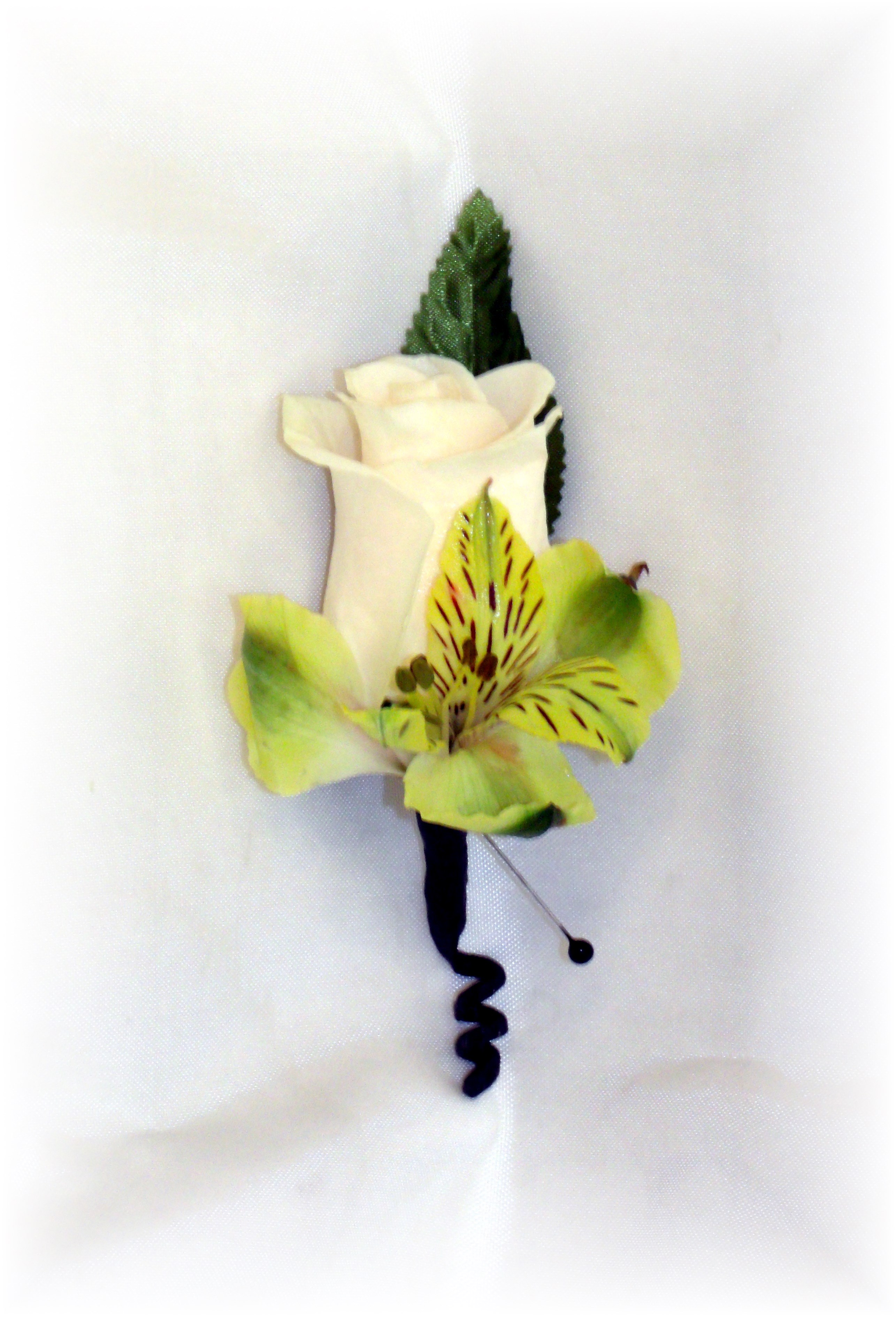 Roses and Alstroemeria Boutonniere