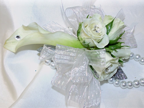 Calla Lily & Rose Wristlet Corsage