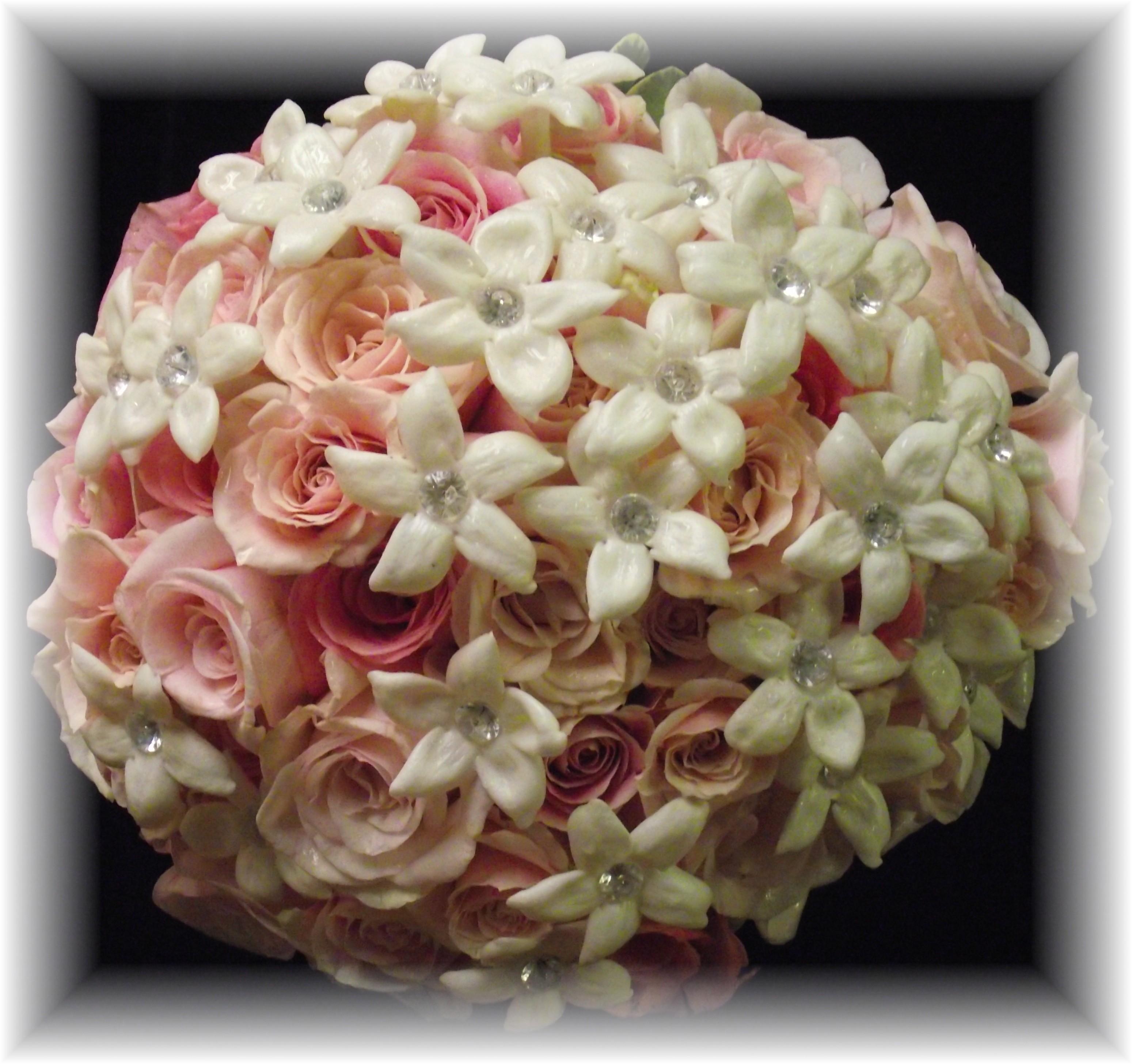 Pink Rose Birdal bouquet