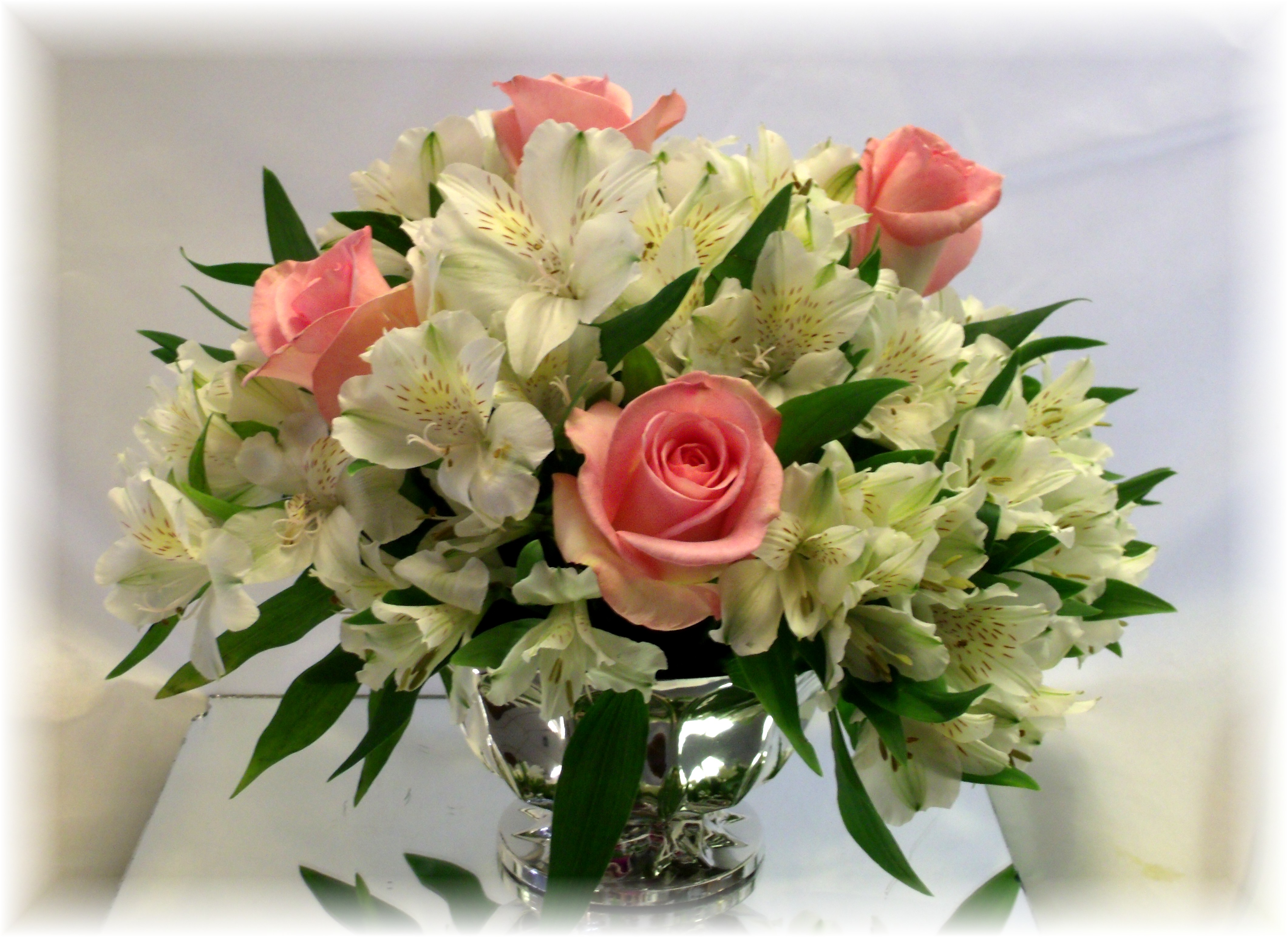 Alstroemeria & Roses Centerpiece