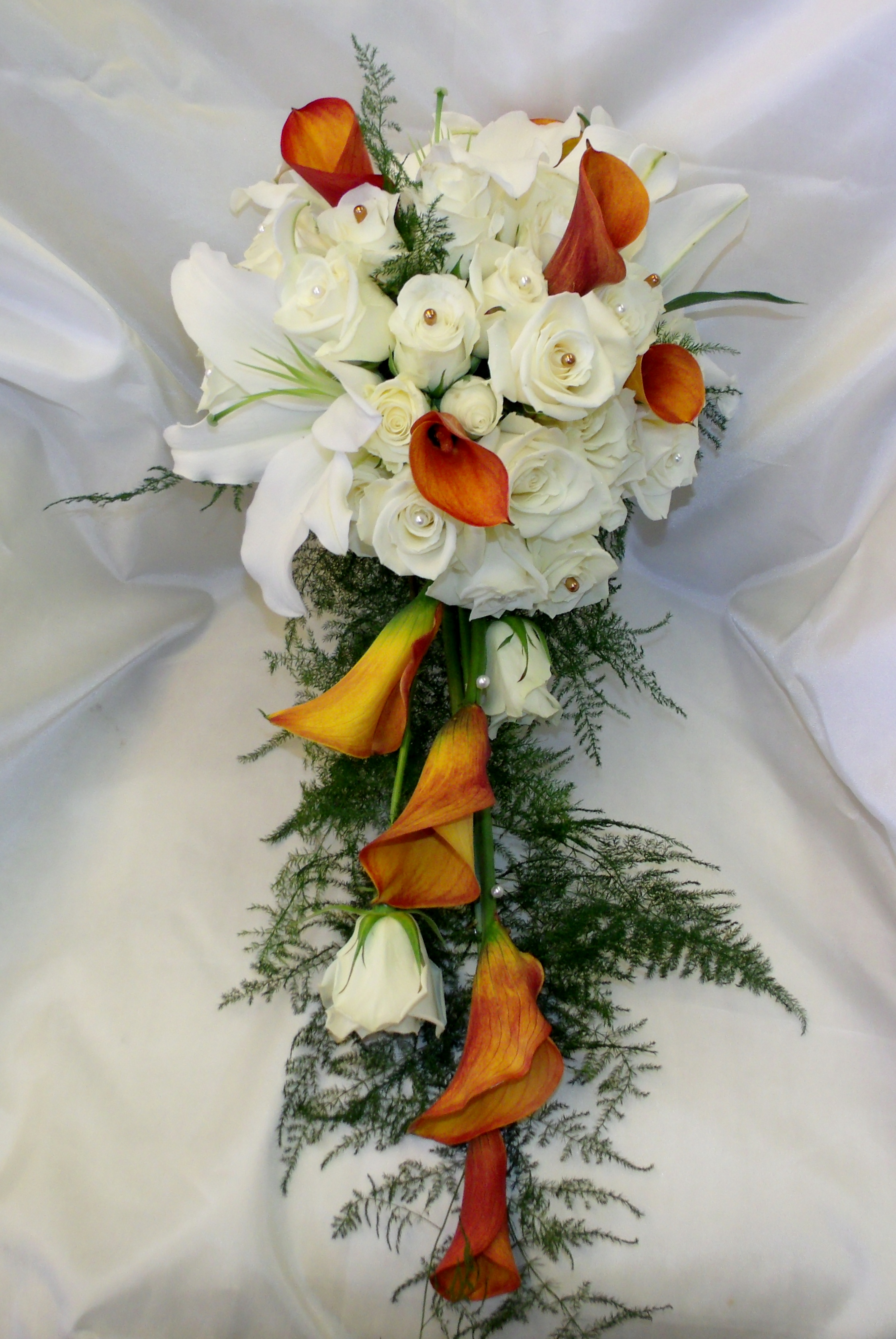 Rose, Calla lily & lily bouquet
