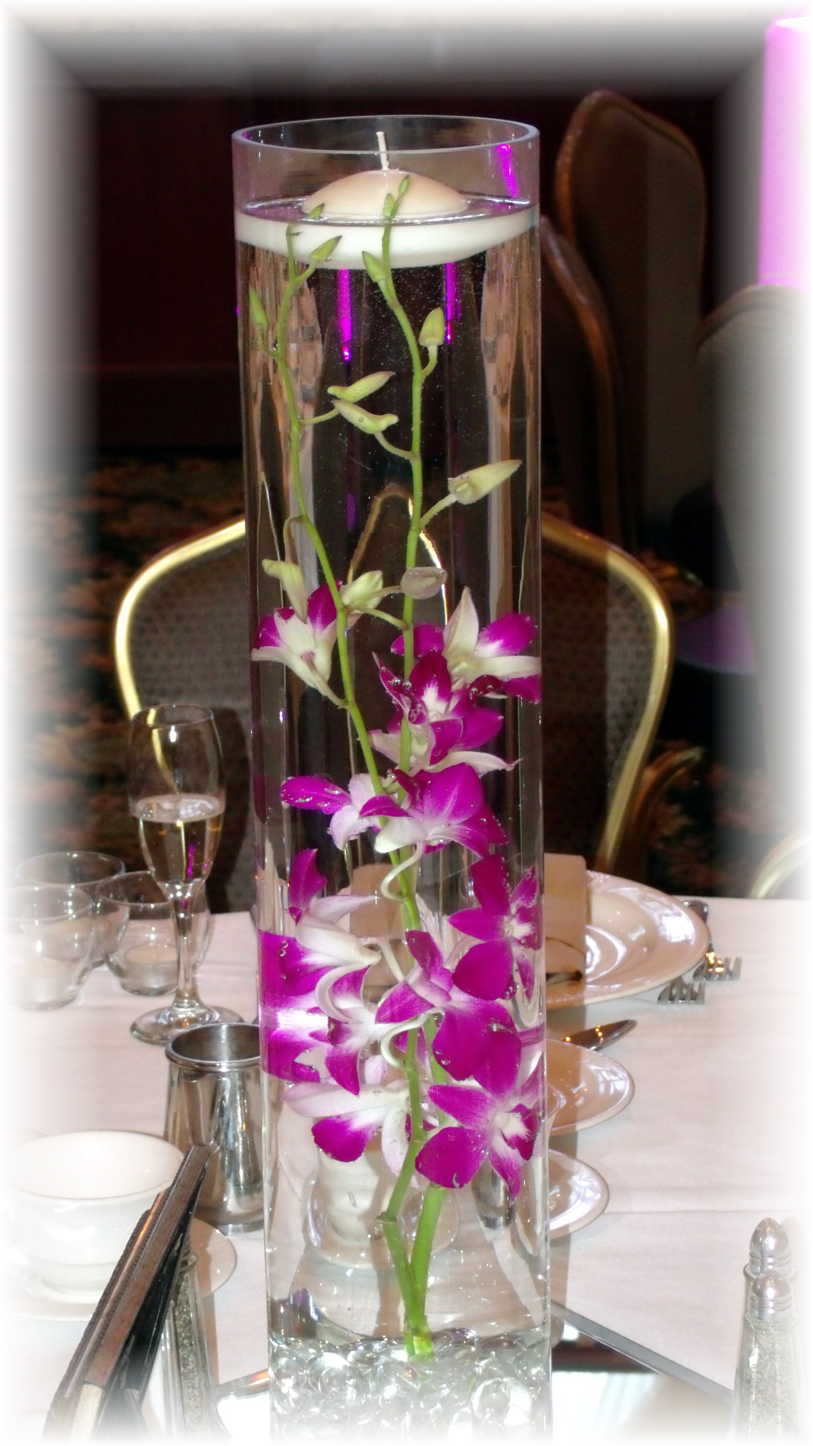 Submerged orchids Centerpiece