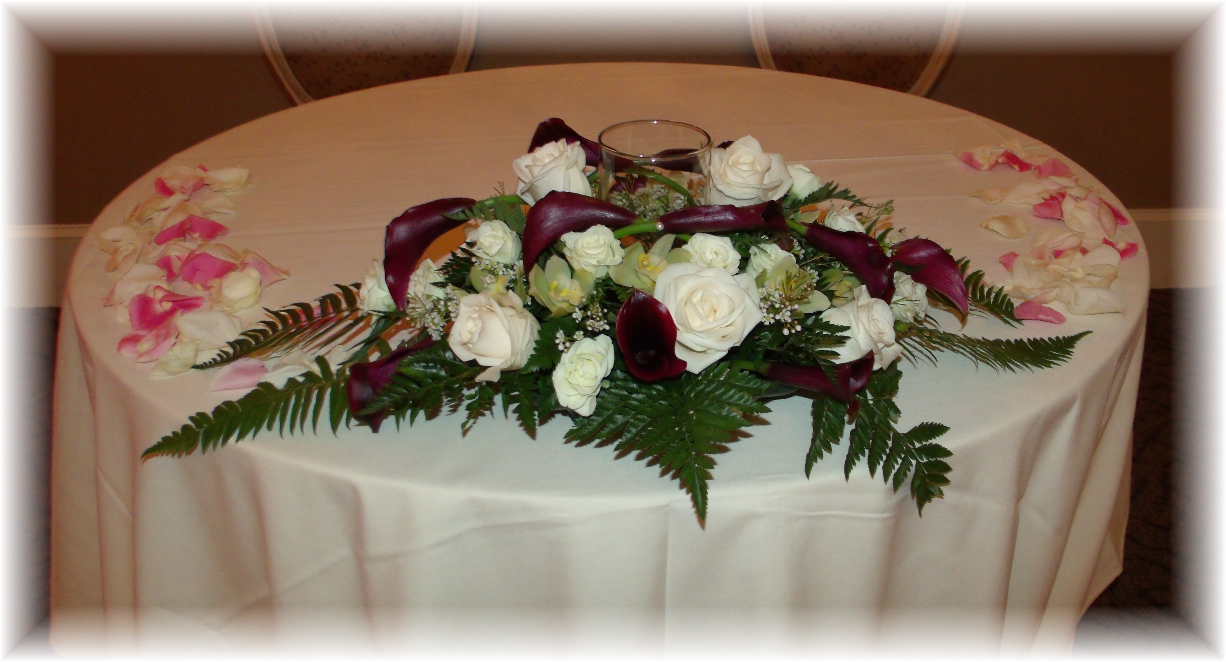 Bouquet holder Sweetheart table