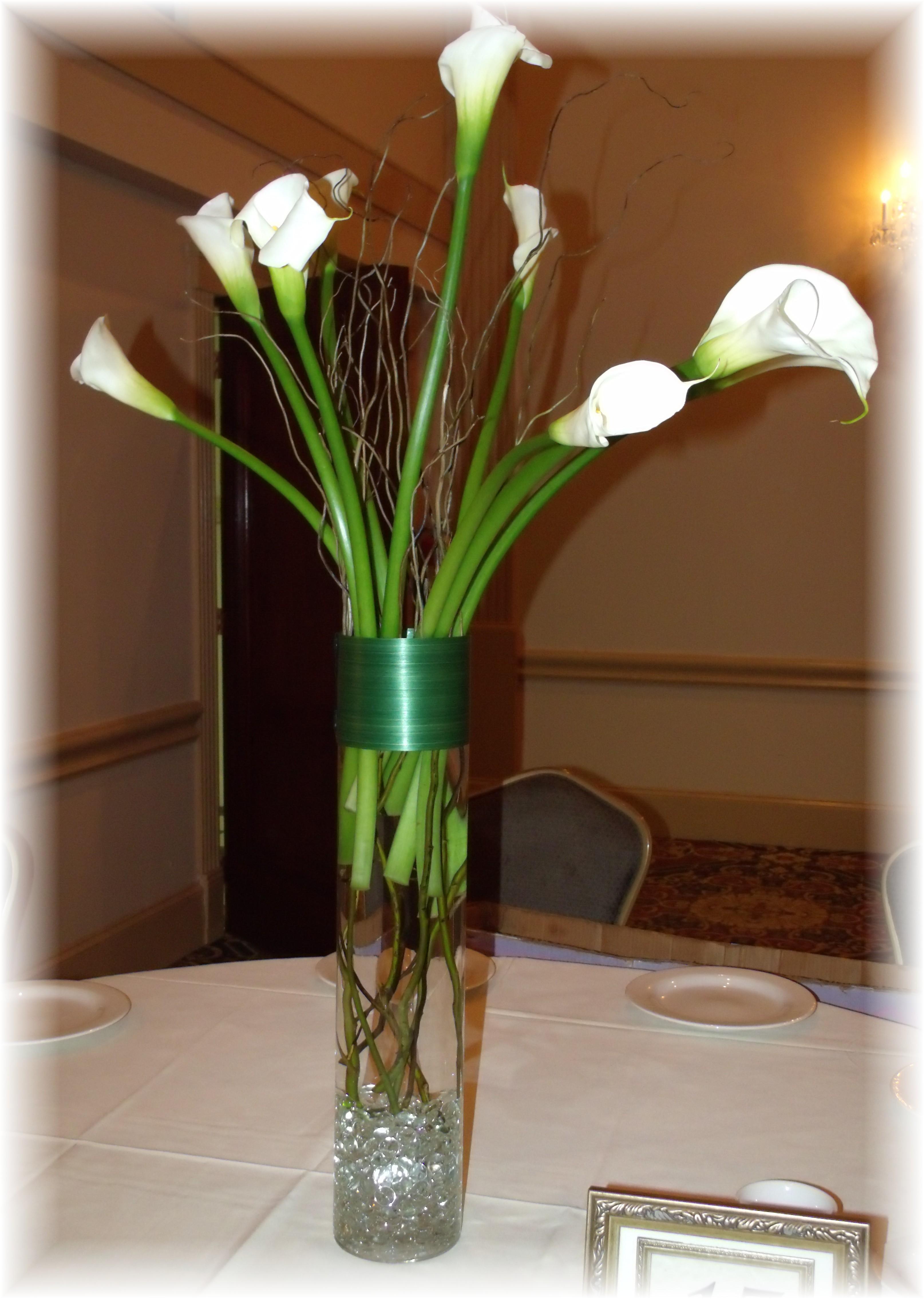 Tall Calla lily centerpiece