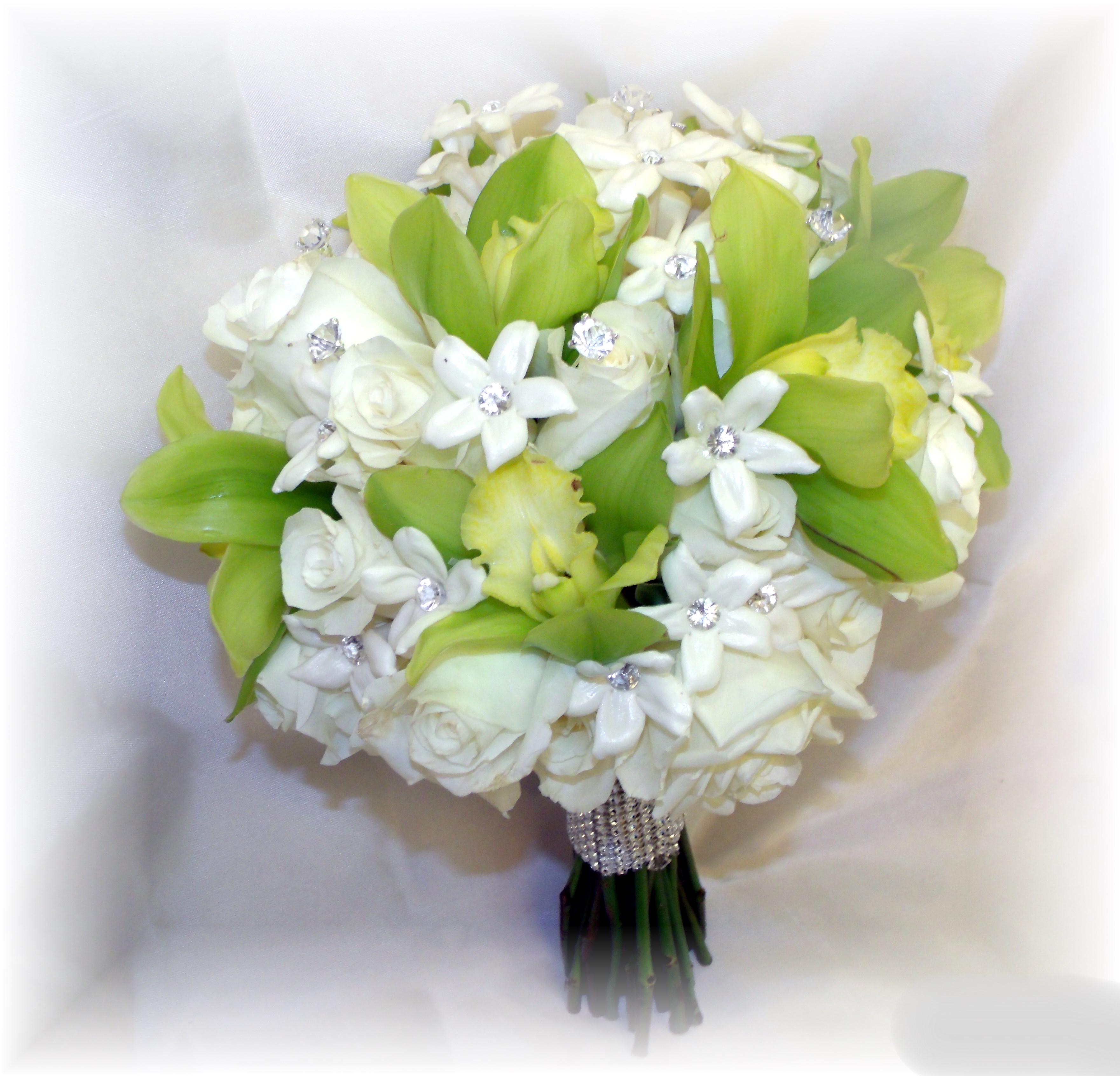 Hydrangea, Roses, Orchids & Stephano