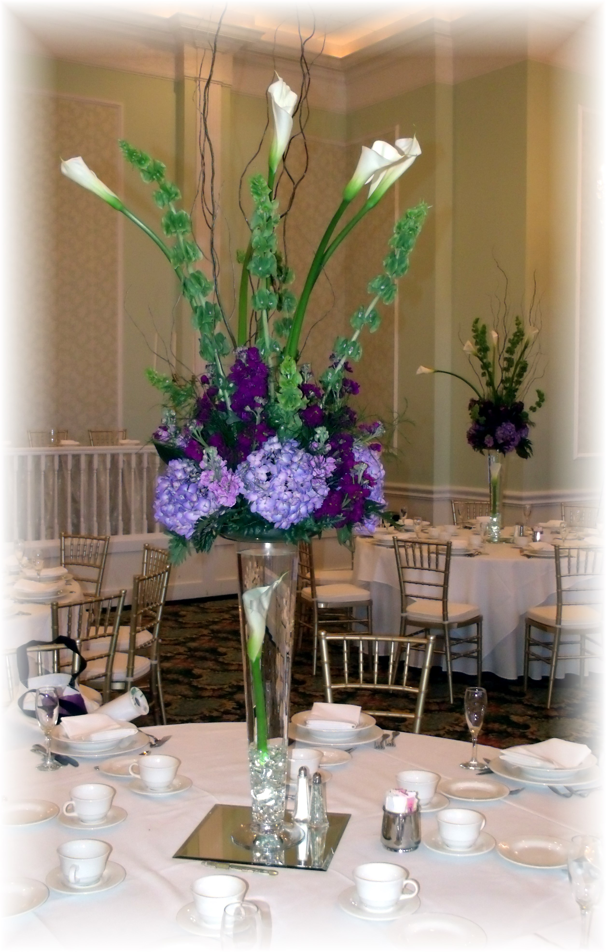 Tall Wedding Centerpiece Hydrangea