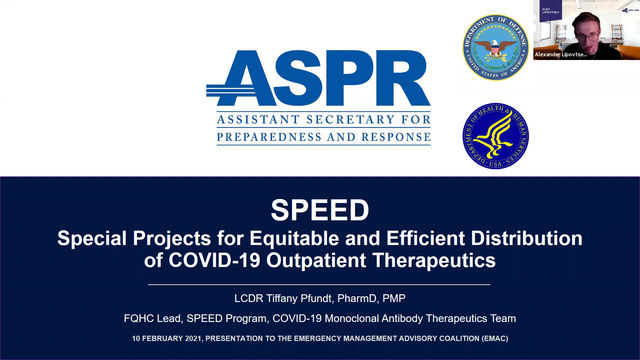 Accessing COVID-19 Outpatient Therapeutics through Federal SPEED Program