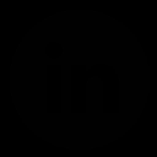 LinkedIn Page Black Circle