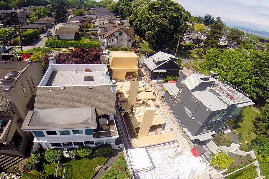 CLT House Mass Timber House Vancouver contemporary arhcitecture Sustainable design Laneway House Dpo Architecture Prefab Construction