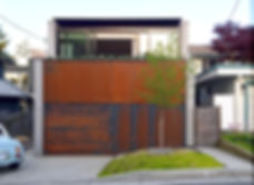 CLT House Mass Timber House Vancouver contemporary arhcitecture Sustainable design Laneway House Dpo Architecture Rusting Steel