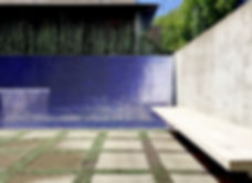 Courtyard House landscape design Fountain Laneway home Vancouvr contemporary architect DPo Architecture