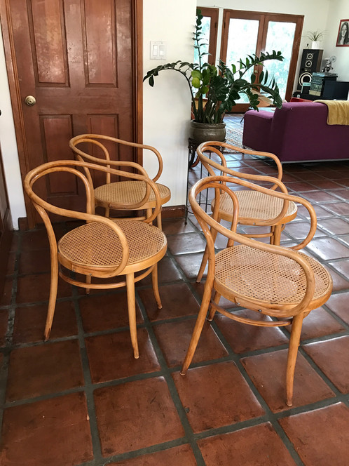 Set Of 4 Whimsical Vintage Stendig Thonet B9 Bentwood Armchairs, In Great  Vintage Condition. All 4 Chairs Look To Have Been Recaned At Some Point, ...