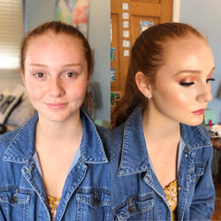 Prom makeup- Before and after