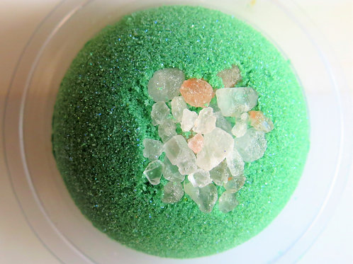 Cool Citrus and Basil Bath Bomb