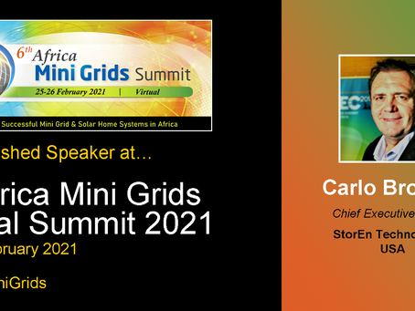 StorEn's CEO Speaking at the 6th Africa Mini Grid Summit