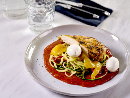Italian Chicken Zoodles with Bell Peppers