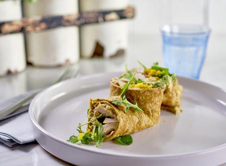 Moroccan Smoked Chicken & Avocado Wrap