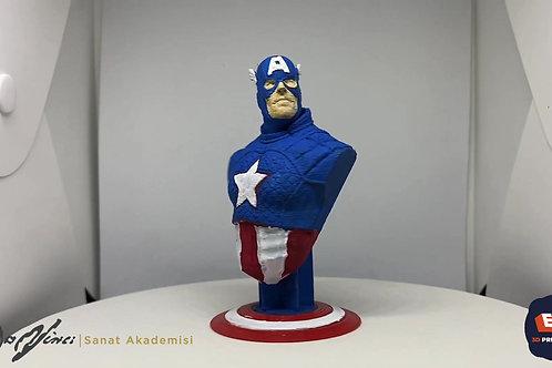 3D Captain America+Boyama Seti