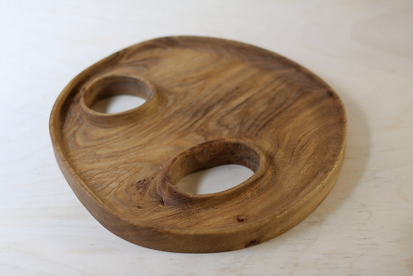 oak plate with holes