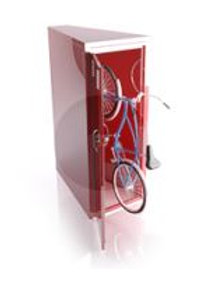 E90 Vertical Steel Bike Locker