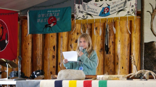 Addressing the Gwich'in Nation spiritual gathering