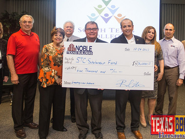 Noble Builders donates $25,000 for Public Safety programs at South Texas College